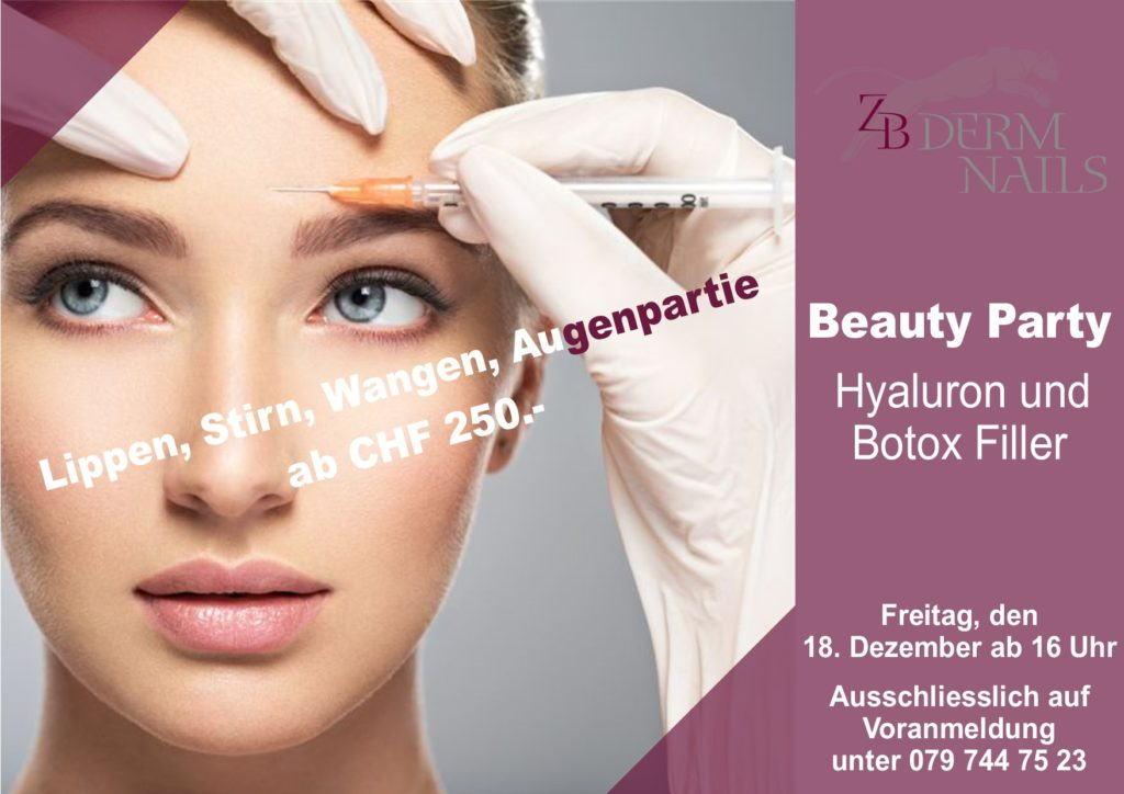 Hyaluron und Botox Filler